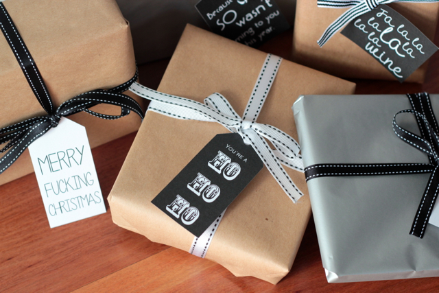 free download cheeky christmas gift tags black and white