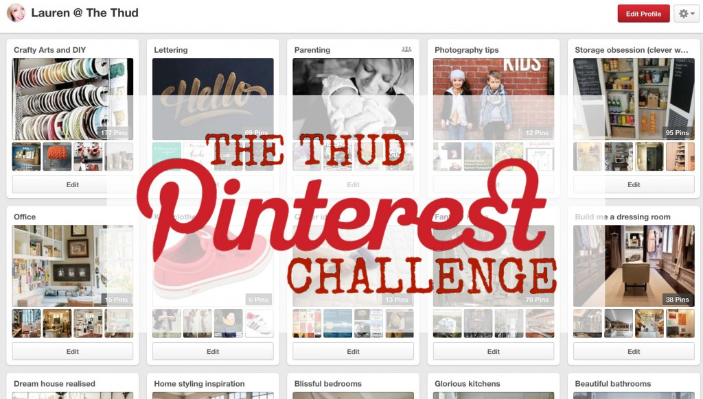 the thud Pinterest challenge