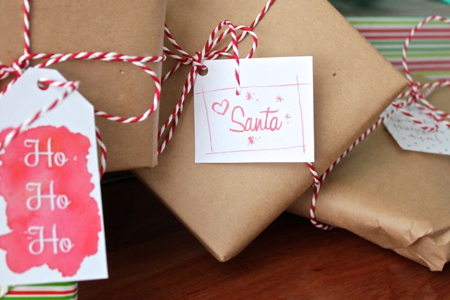 Free download watercolour christmas gift tags