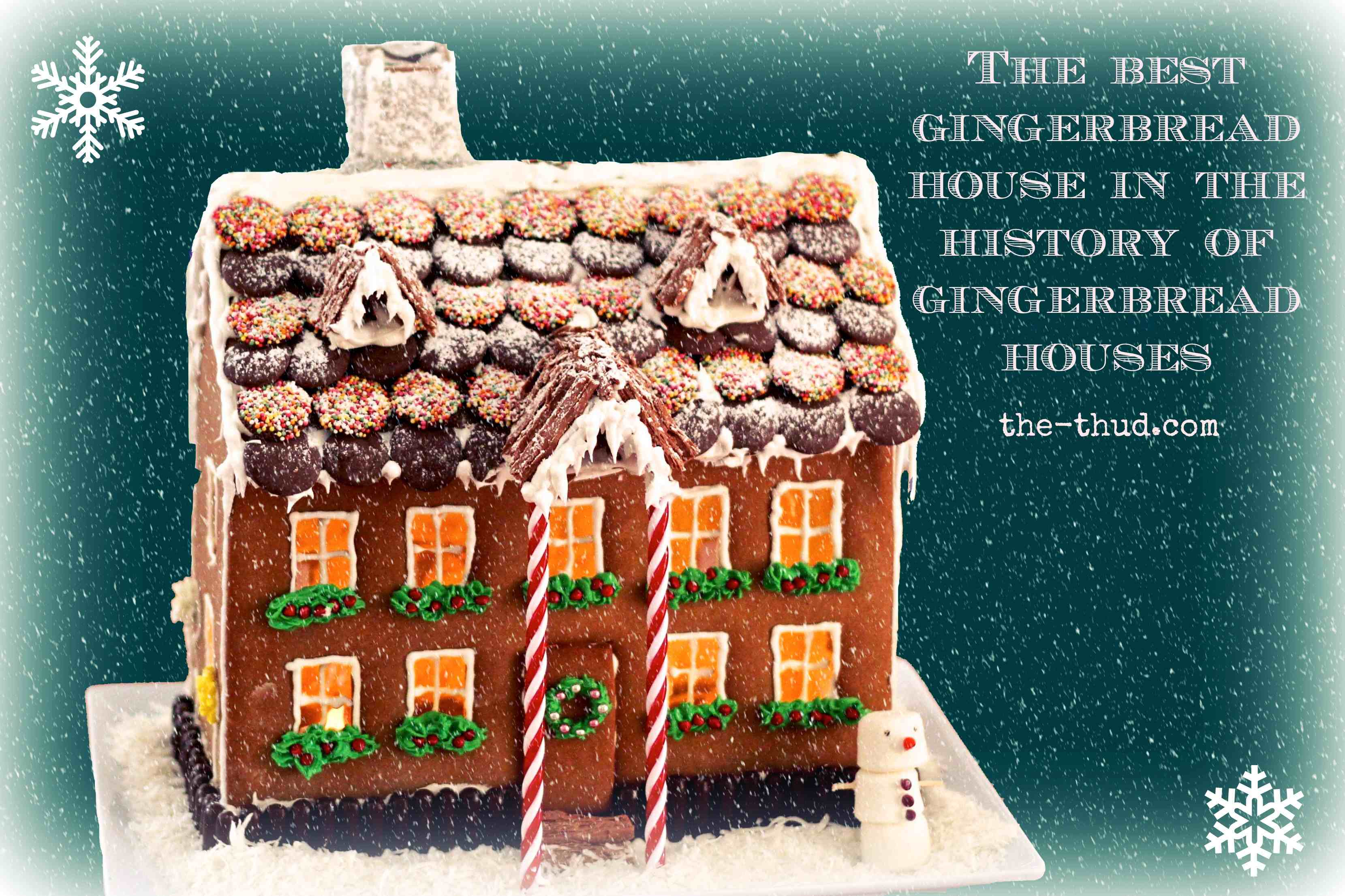 photo relating to Gingerbread House Templates Printable Free titled The Ideal Gingerbread Household in just the historical past of Gingerbread