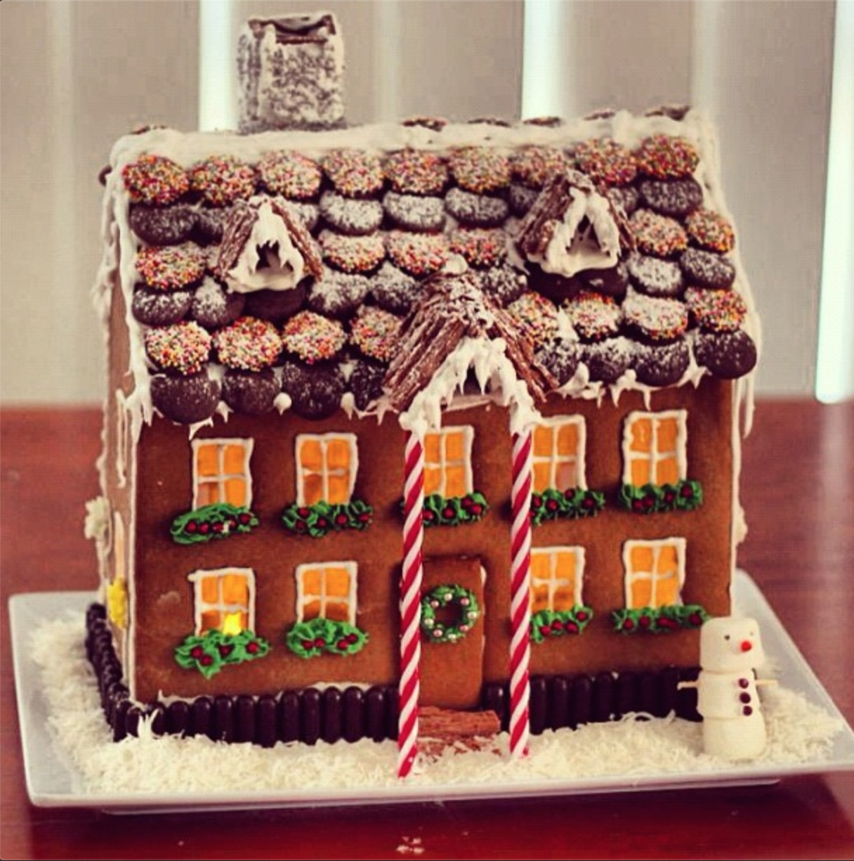 The Thud Gingerbread House template - The Thud