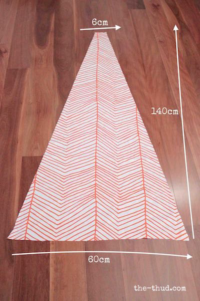 DIY Kids teepee - cut triangles for teepee panels & DIY Kids Teepee - The Thud
