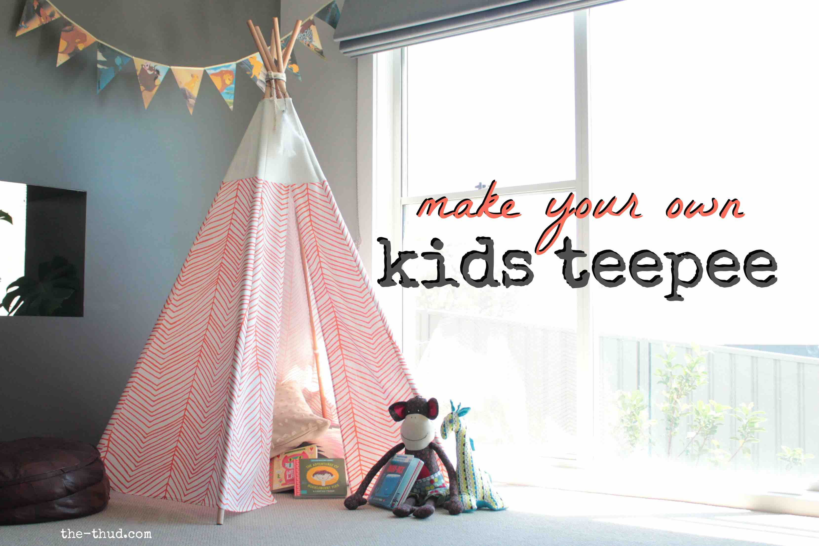 Diy kids teepee the thud diy kids teepee solutioingenieria Choice Image
