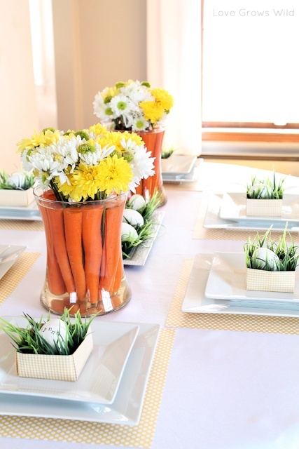 Cheap Spring Decorations: 10 Quick Easter Table Ideas