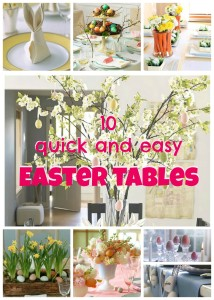 10 quick Easter table ideas