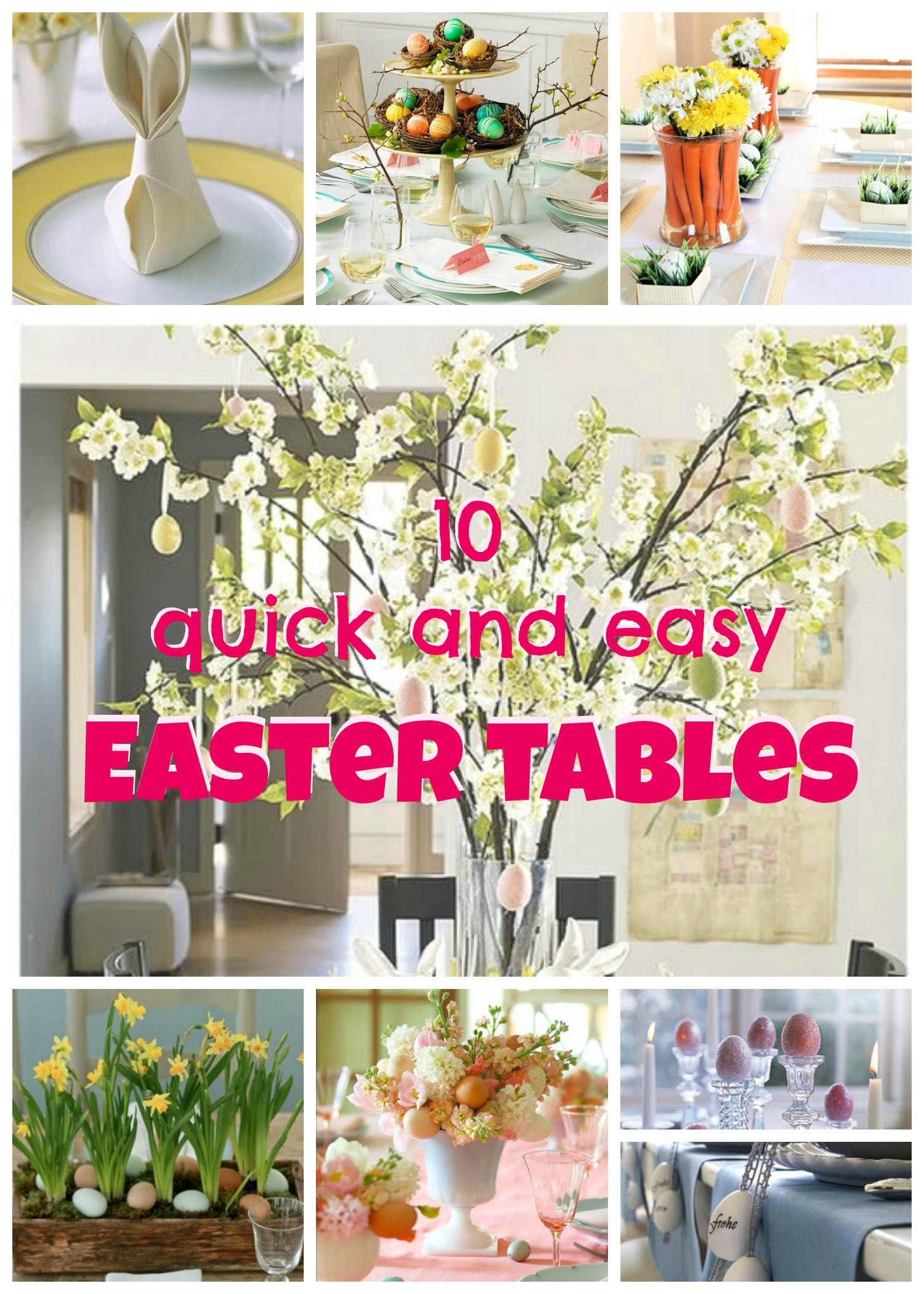 10 quick easter table ideas the thud for Decor quick