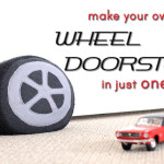 DIY Car Wheel doorstop or cushion