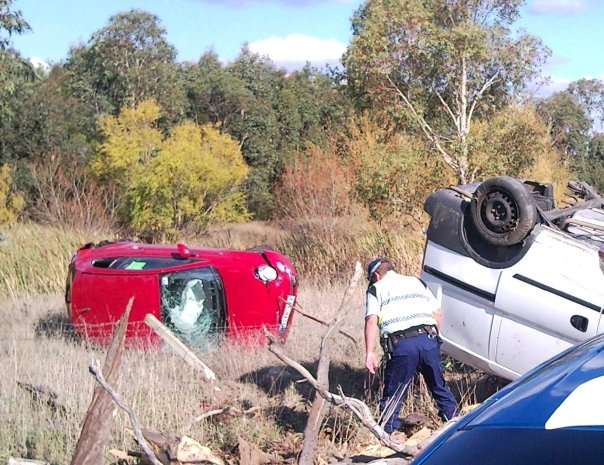 It was May 2009 and my car was only five days old. If I'd been in my old car (which was a pile of crap) I wouldn't have walked away from this.