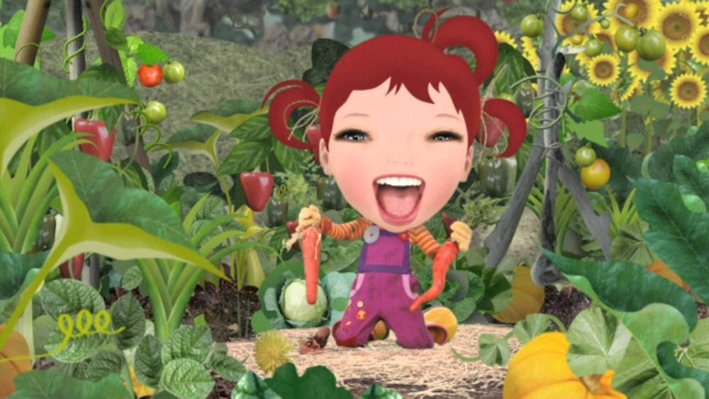 Close your mouth for Christ's sake Dirt Girl, before someone shoves something in there. Kids TV terrifies me