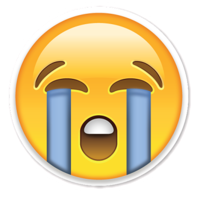 This is apparently the 'loud crying' emoticon.