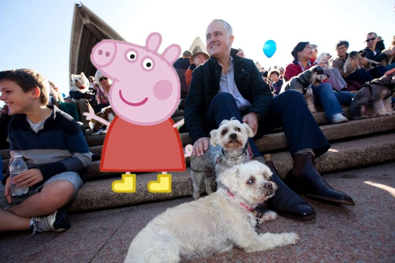 Malcolm Turnbull Peppa Pig