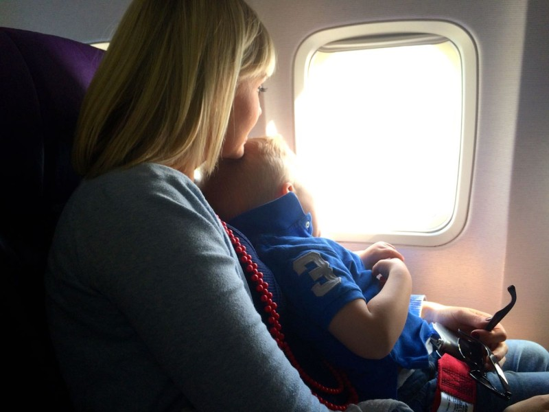 travelling with toddlers - airplane takeoff lap sash extension belt